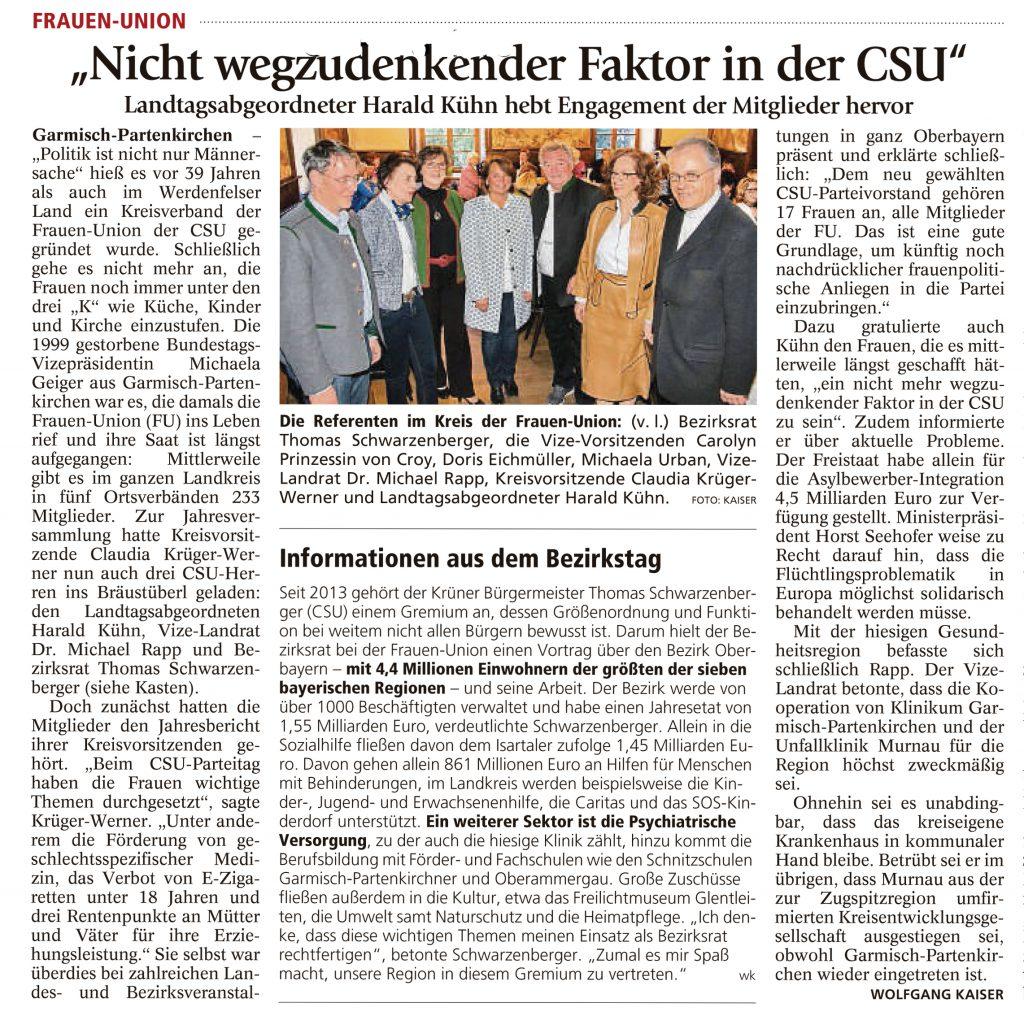 Garmisch-Partenkirchner Tagblatt, 18.04.2016
