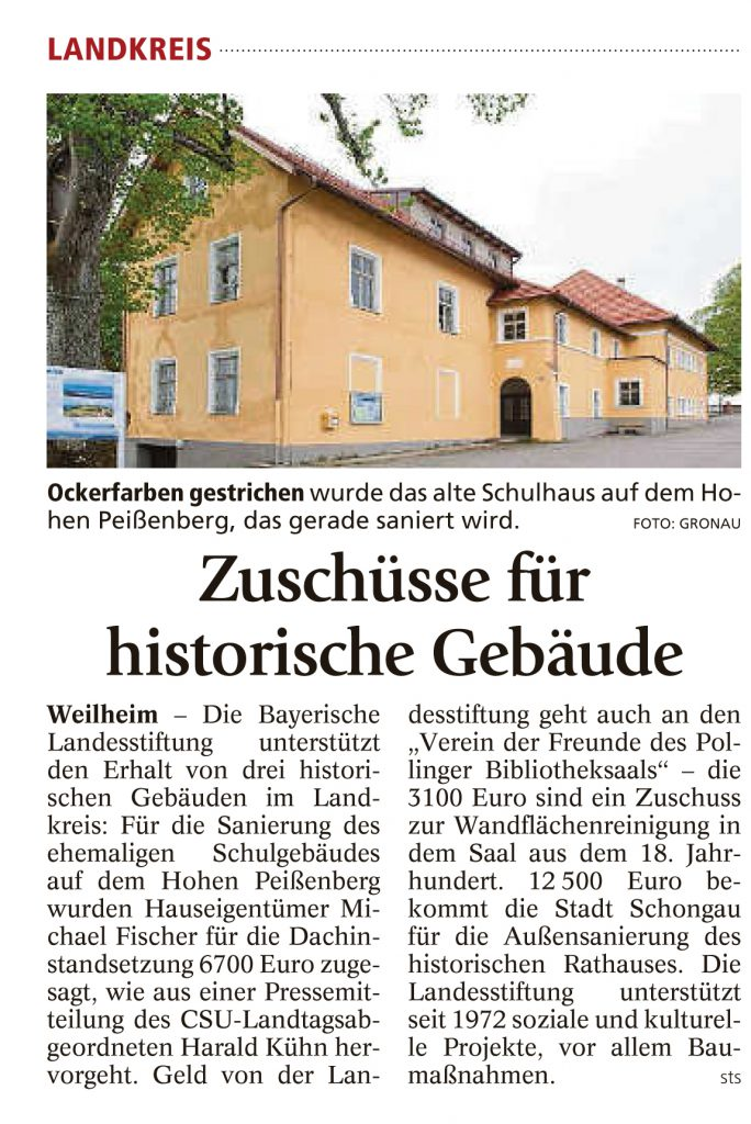 Weilheimer Tagblatt, 2.06.2016