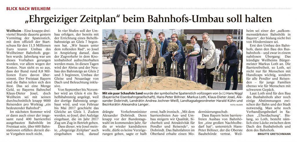 Weilheimer Tagblatt, 4.05.2016