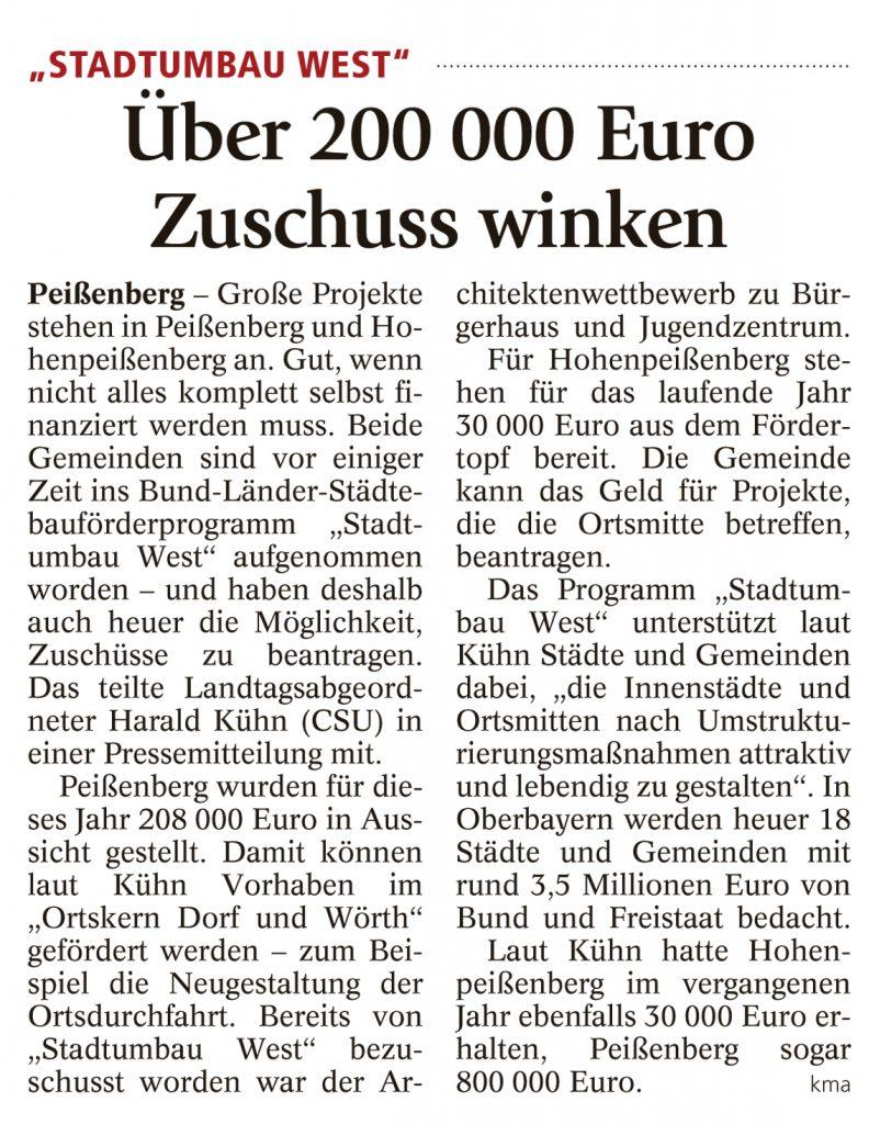 Weilheimer Tagblatt, 10.05.2016