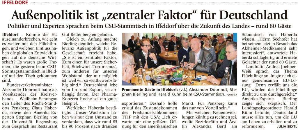 Weilheimer Tagblatt, 18.04.2016