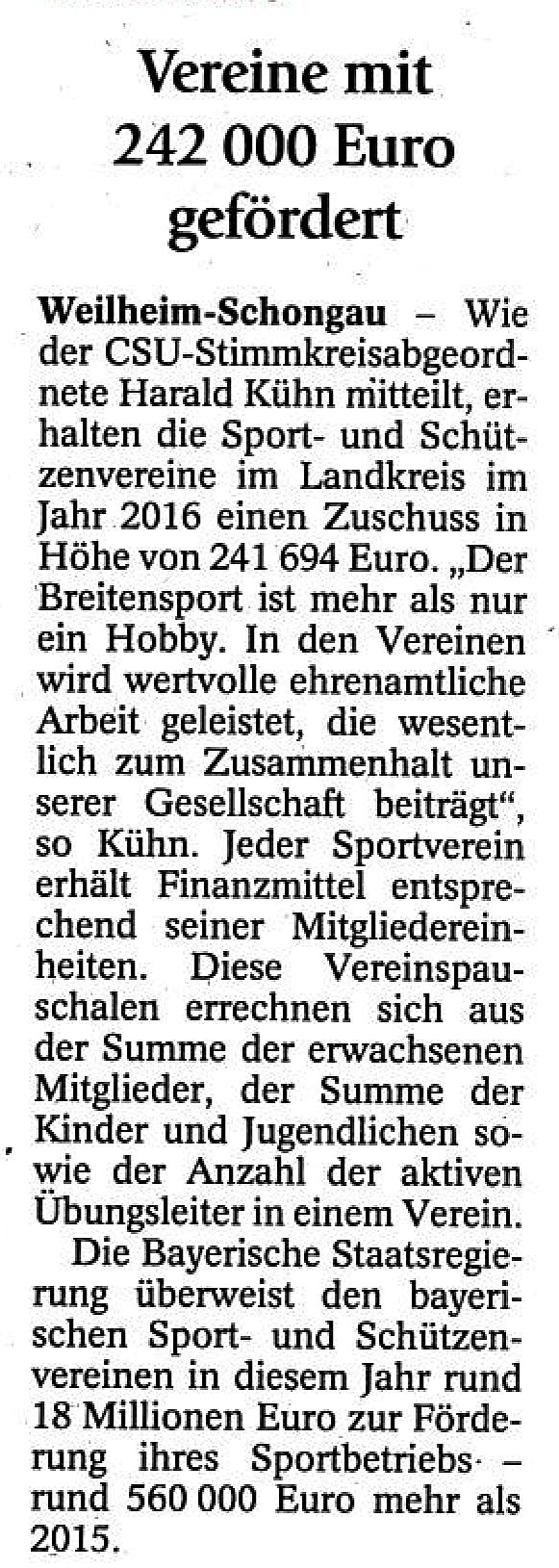 Schongauer Tagblatt 4.08.2016