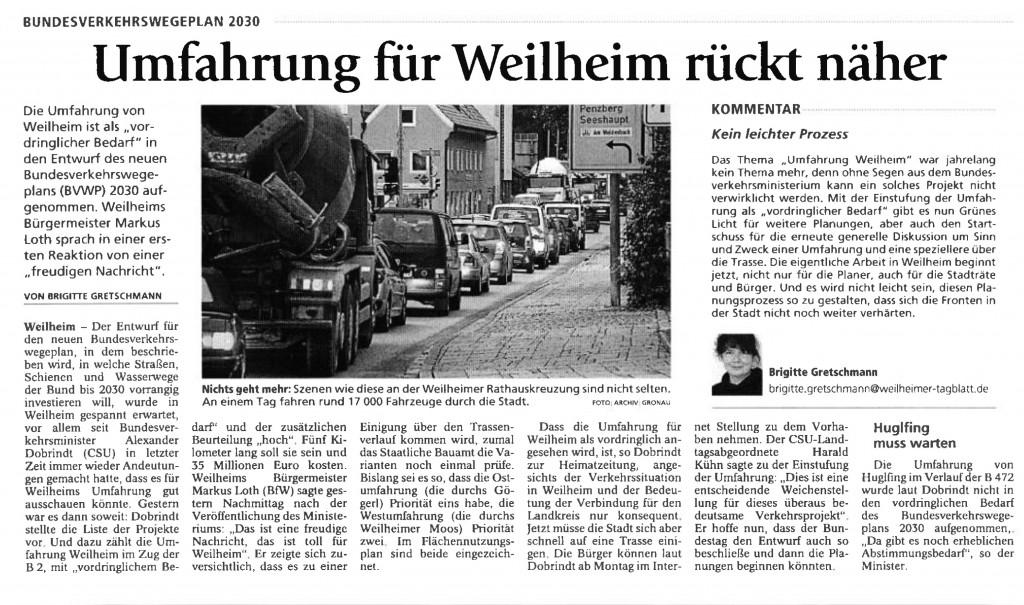 Weilheimer Tagblatt 17.03.2016