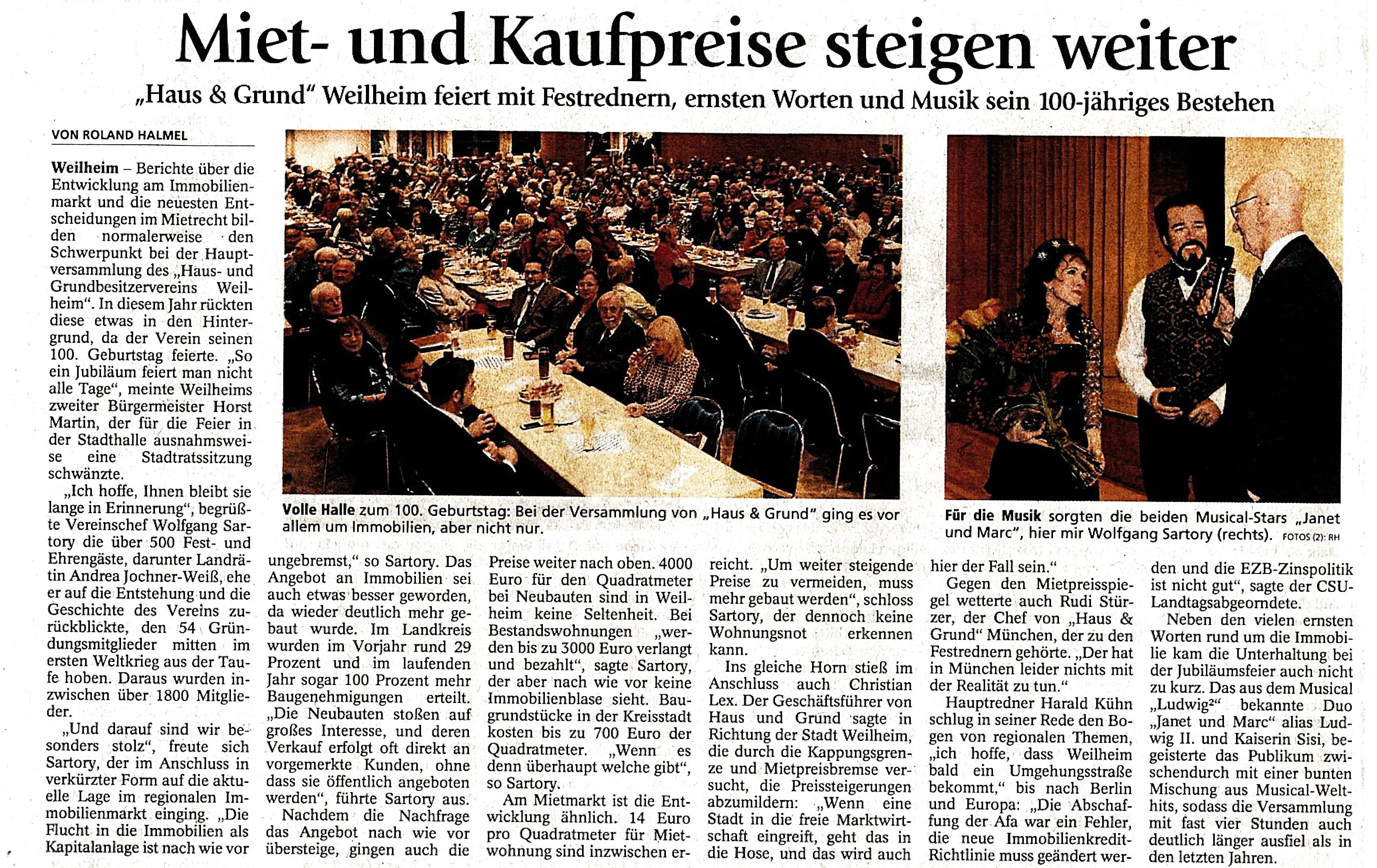 Weilheimer Tagblatt 24,10.2016