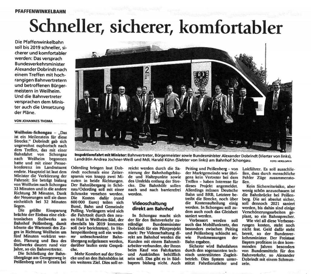Weilheimer und Schongauer Tagblatt 3.06.2015