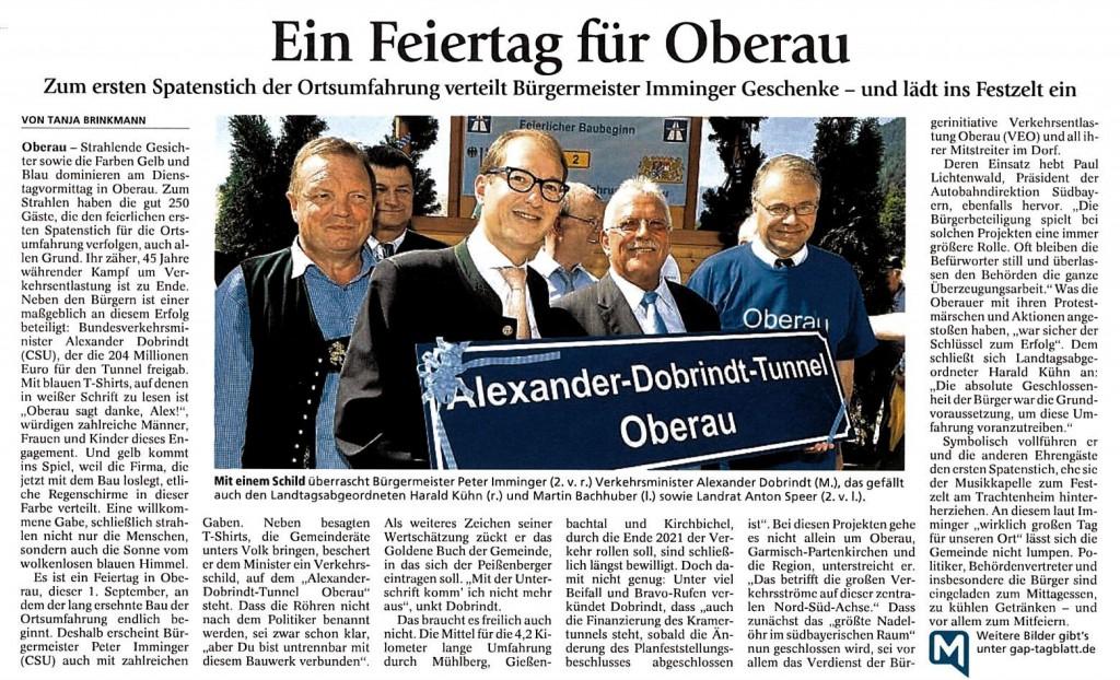 Garmisch-Partenkirchner Tagblatt 2.09.2015