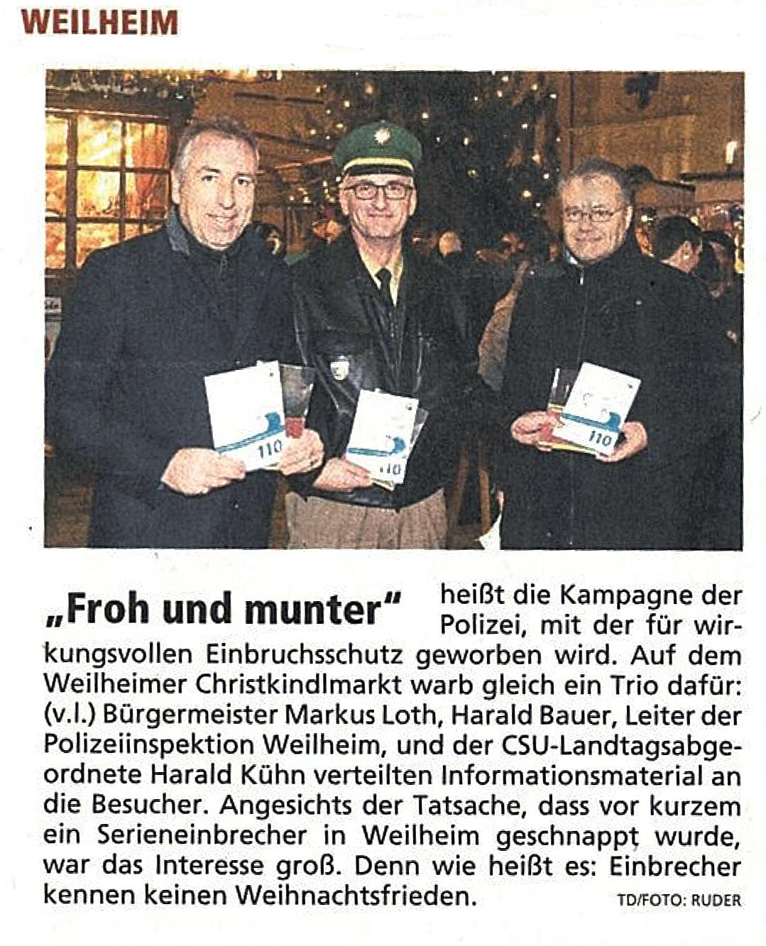 Weilheimer Tagblatt, 7.12.2016
