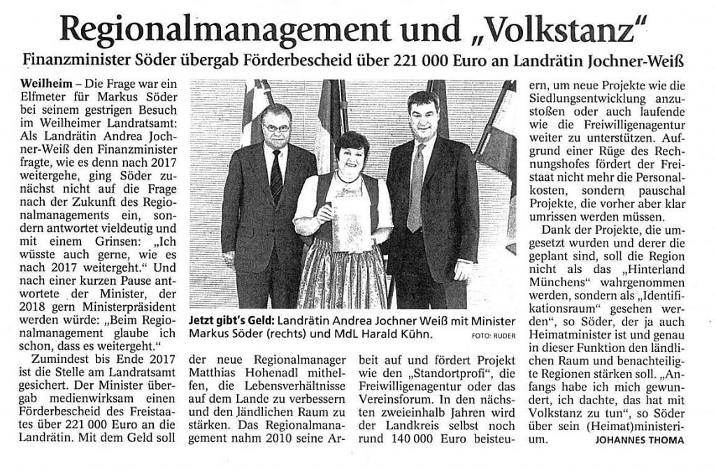 Weilheimer Tagblatt 16.06.2015