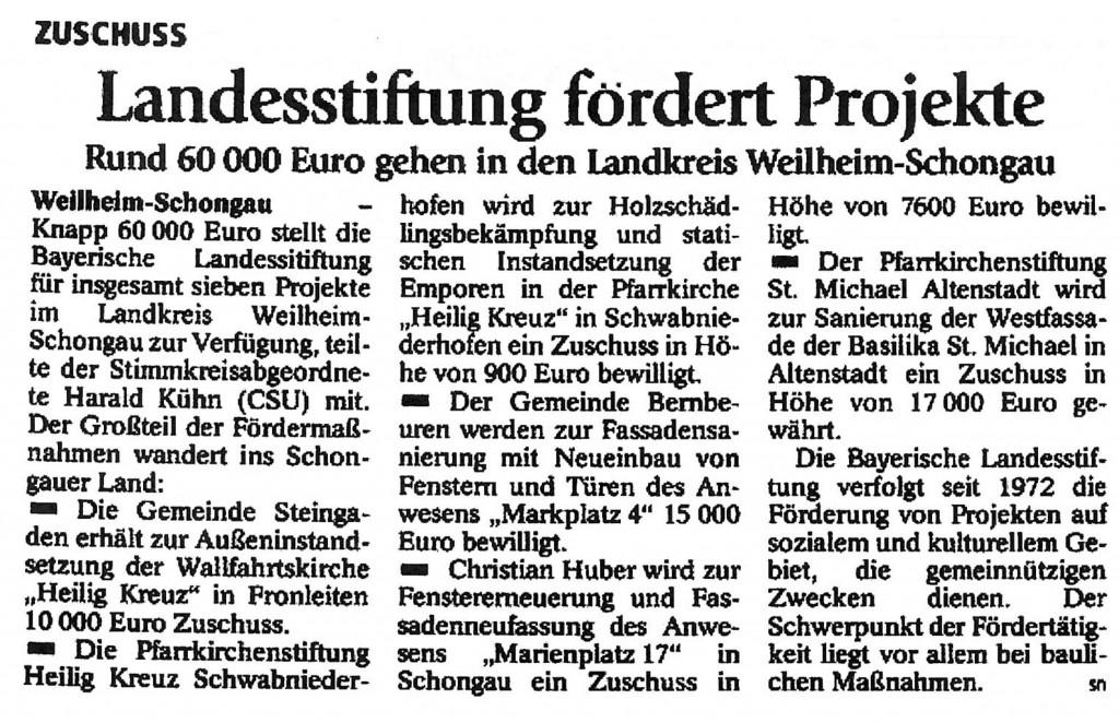Schongauer Tagblatt 21.07.2014