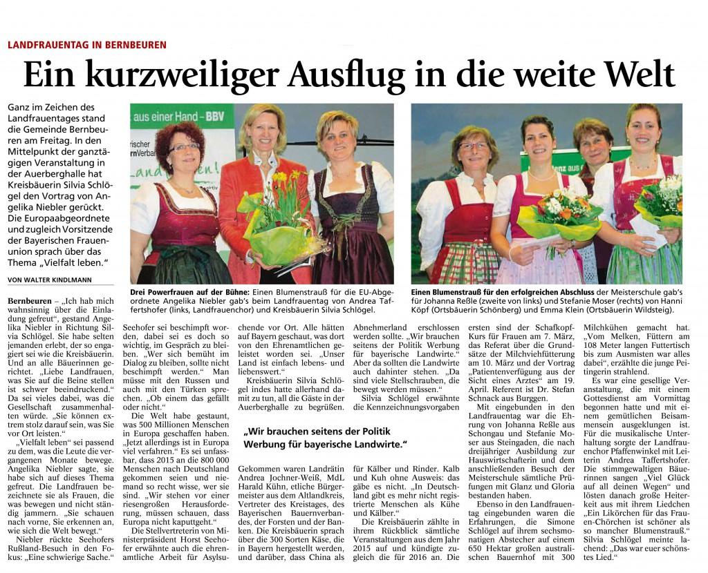 Schongauer Tagblatt 22.02.2016
