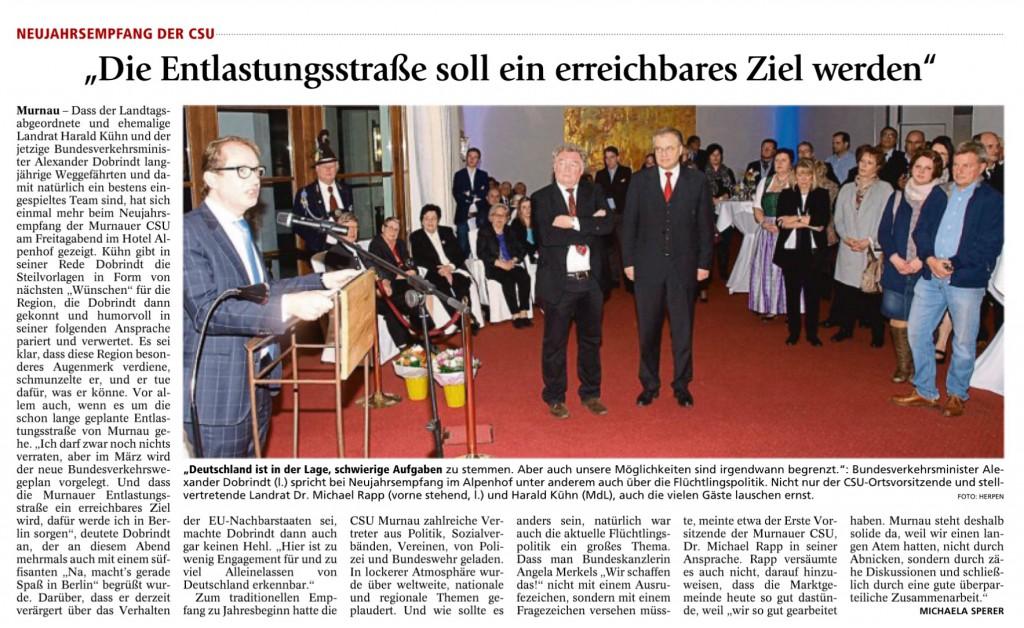 Garmisch-Partenkirchner Tagblatt 1.2.2016