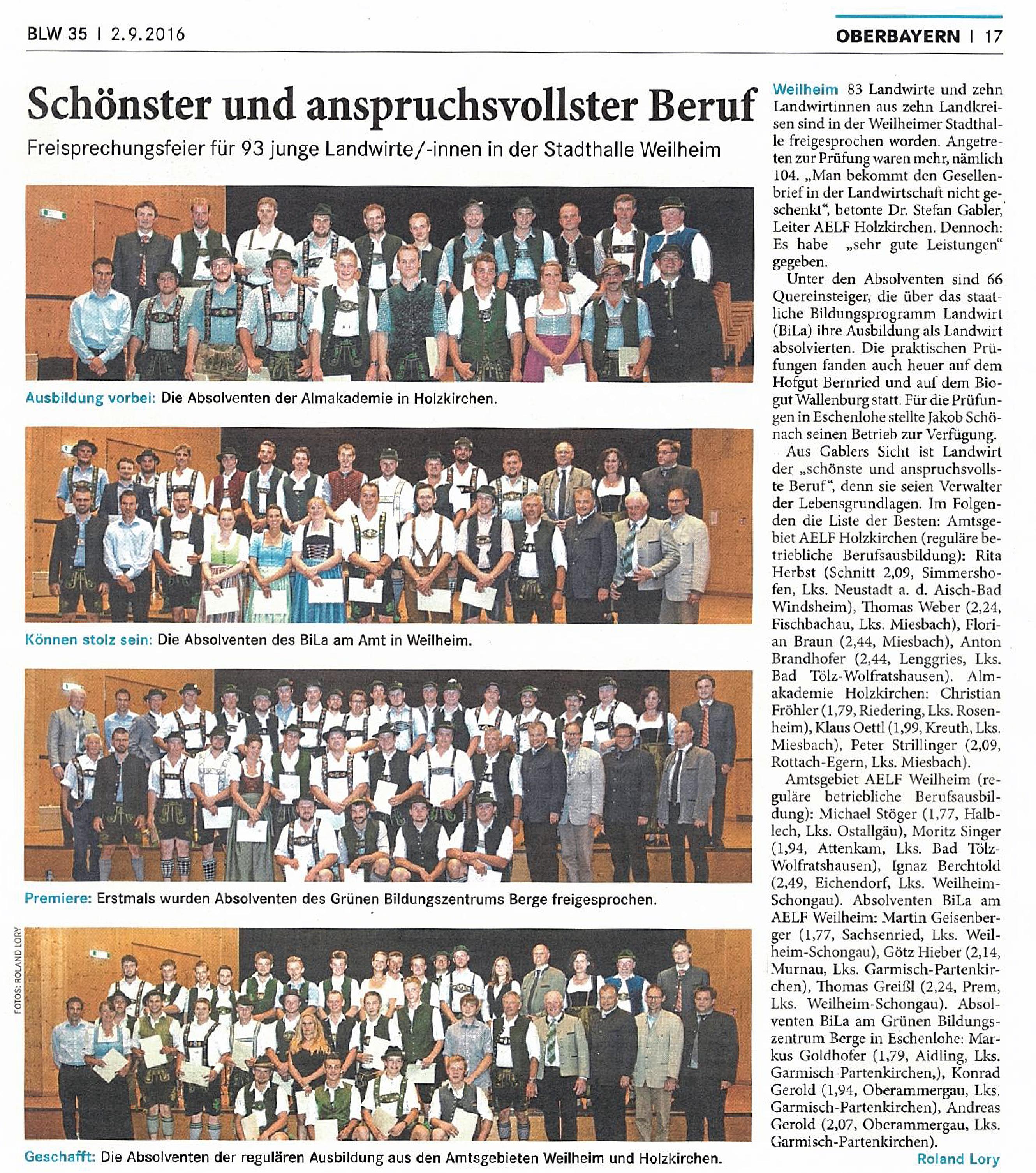 Landwirtschaftliches Wochenblatt 2.09.2016