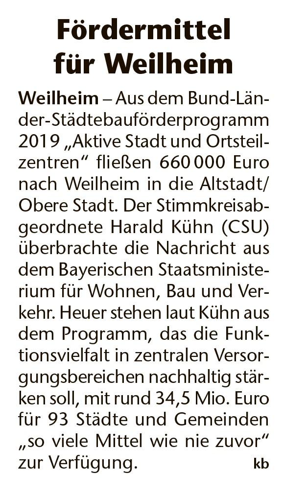 Kreisbote Weilheim Murnau, 22.06.2019
