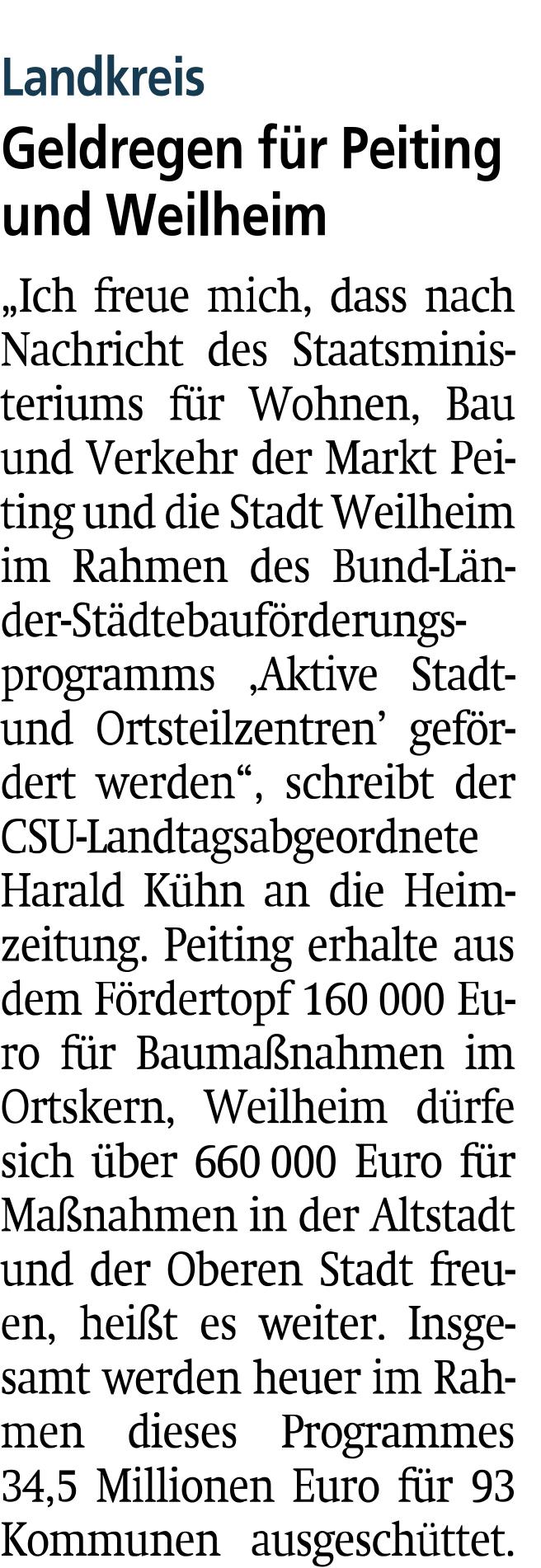 Weilheimer Tagblatt, 22.06.2019