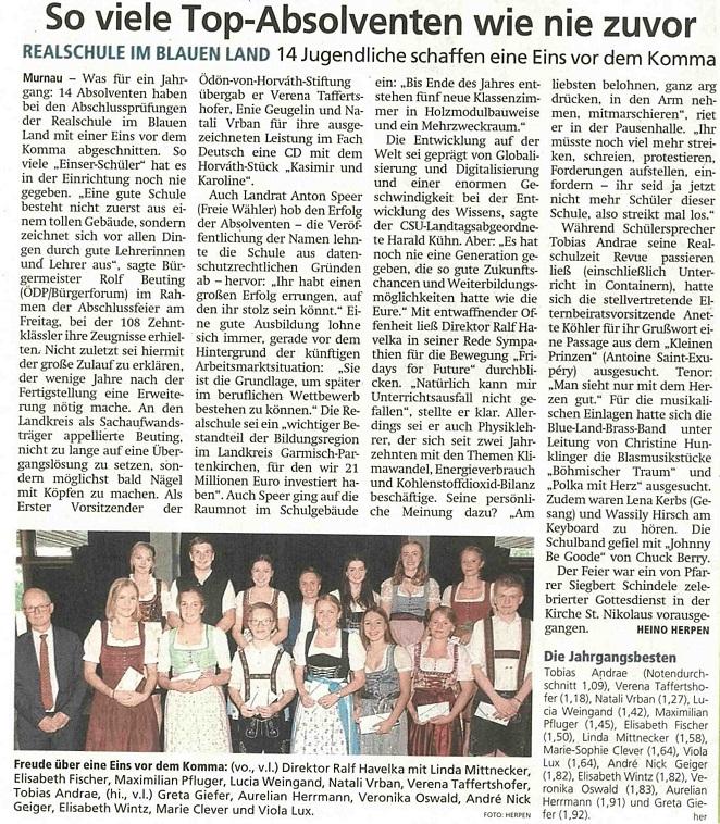 Garmisch-Partenkirchnder Tagblatt, 23.07.2019