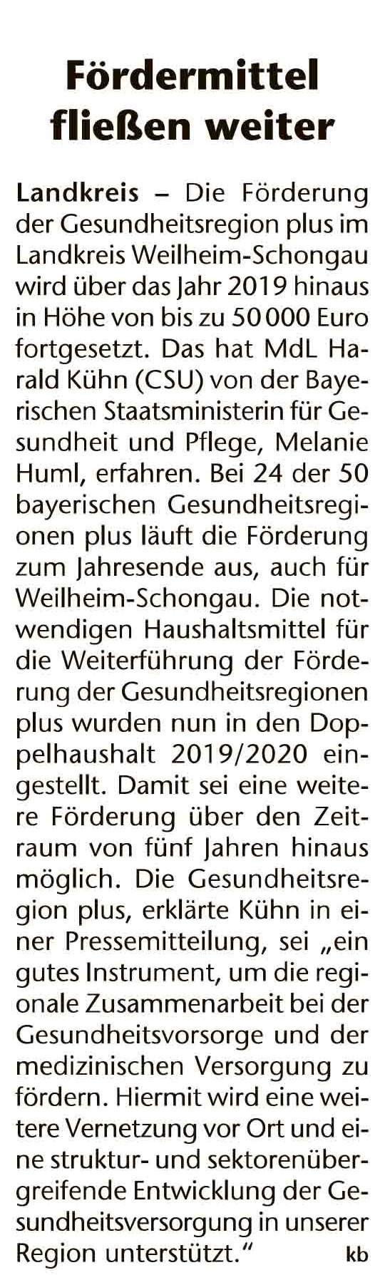 Kreisbote Weilheim, 30.10.2019