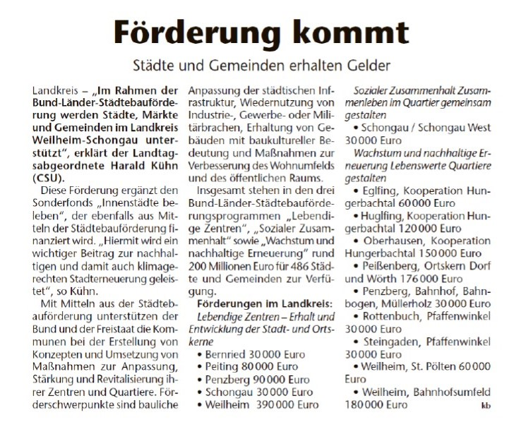 Kreisbote Weilheim Schongau, 11.08.2021